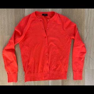 J. Crew orange button front cardigan size medium